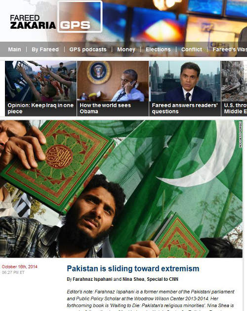 Two scholars write about Pakistan's continued slide towards extremism for CNN