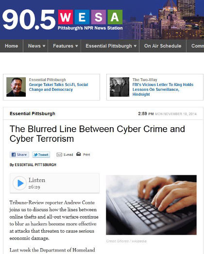 The line between cyber terrorism and cyber crime