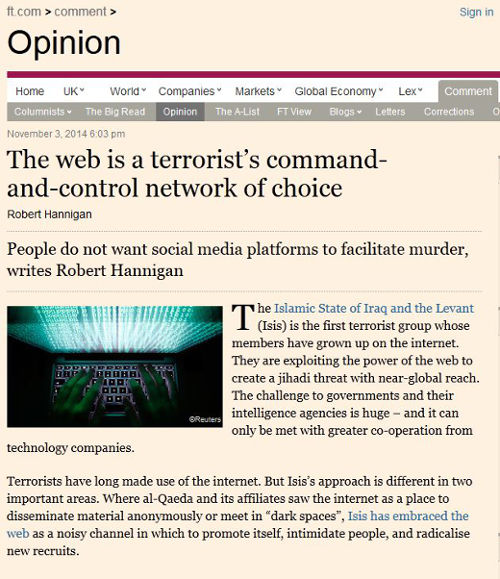 New head of GCHQ accuses tech companies of helping terrorists