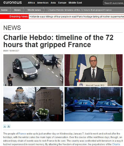 The 72 hour terror siege of France