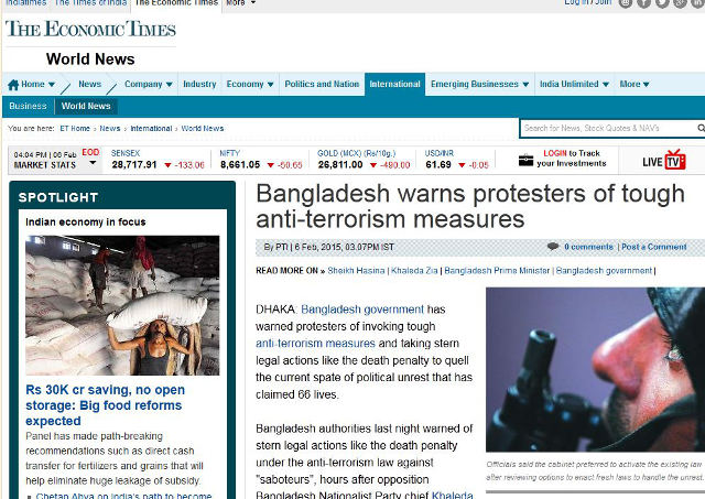 Bangladeshi government invokes anti-terror laws
