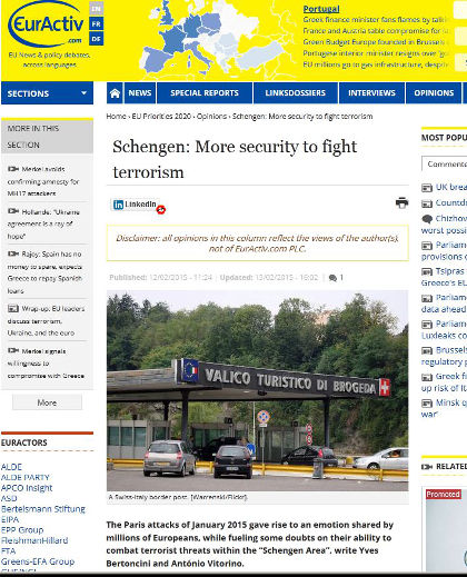 "Can Europe combat terrorists within the ""Schengen Area""?"
