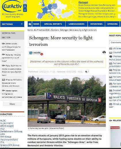 "Can Europe combat terrorists within the ""Schengen Area""?"