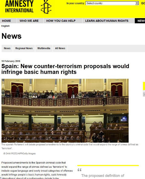 Human rights under threat from new Spanish counter terror law