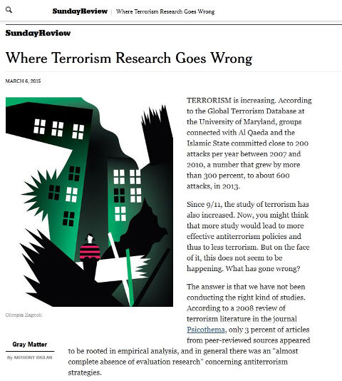 Commentary on the (lack of) scientific research and studies on terrorism