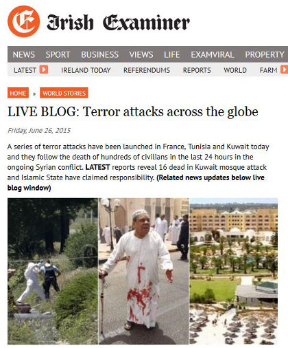 Deadly terrorist attacks in France, Kuwait and Tunisia