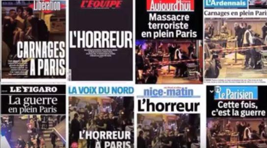 Paris news collage